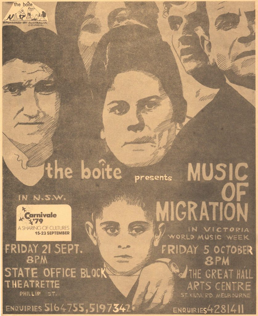 Program Cover for the Music of Migration Concert