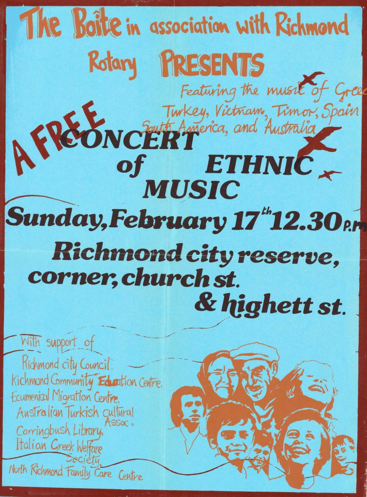 Poster for the Richmond Reserve Concert, 1980