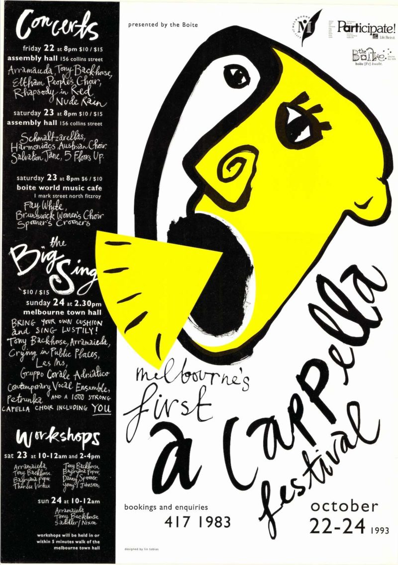 A Cappella Festival Poster from 1993