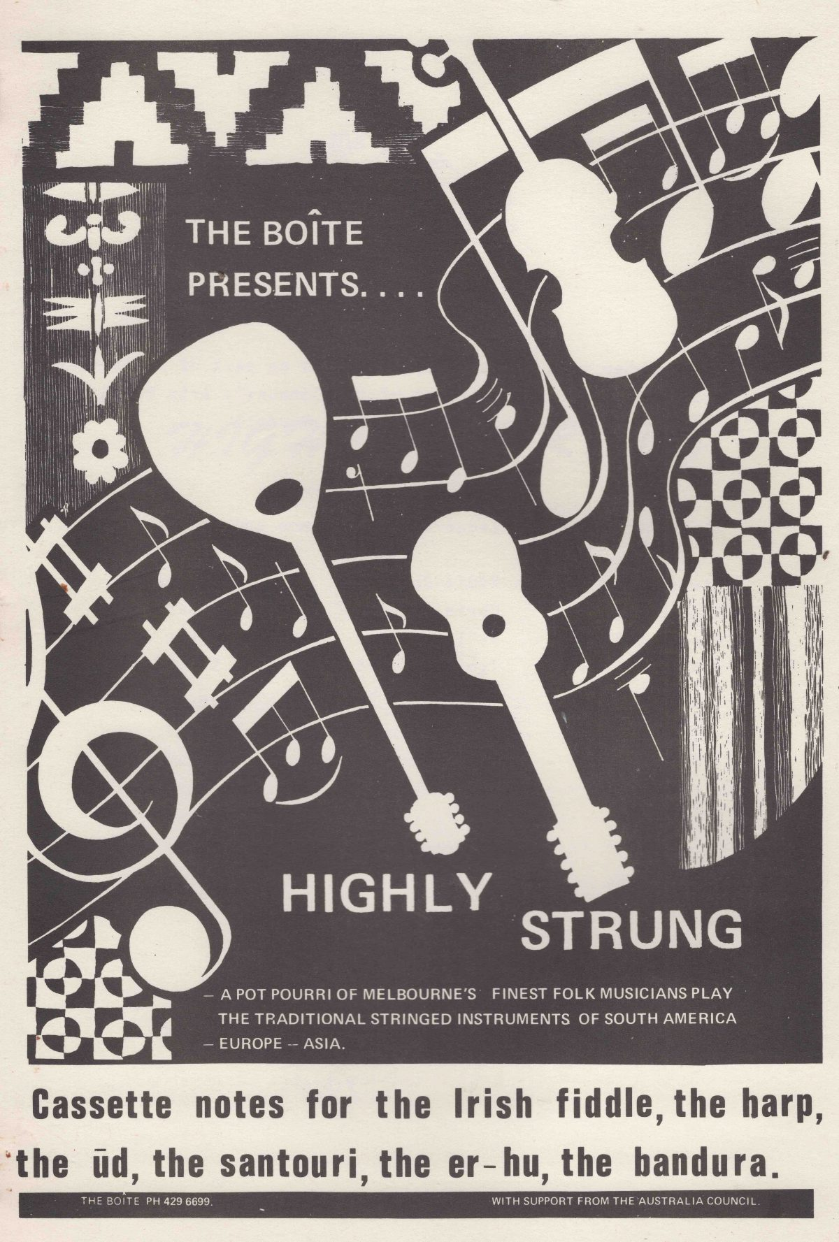 Cover of Highly String Booklet from 1983